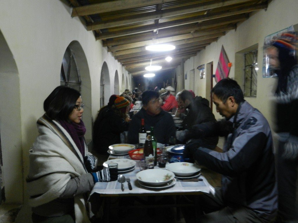 Hostel during Uyuni trek