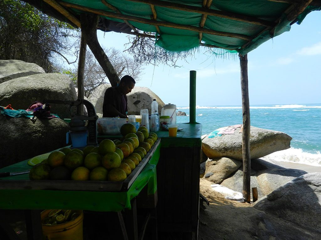 Tyrona-national-park-colombia-ceviche-streetfood