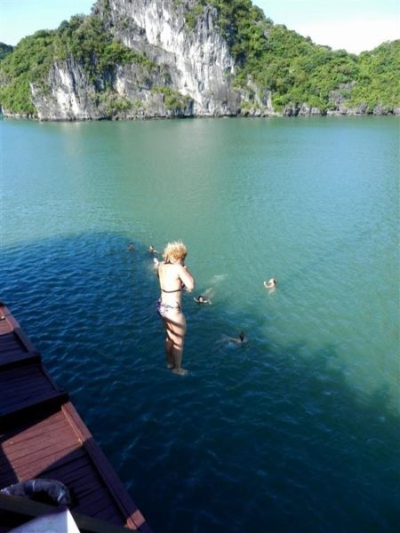 Halong bay jumping