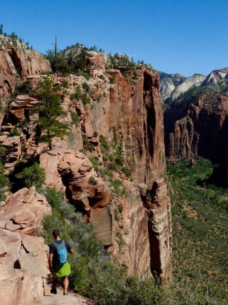 Hiking in Zion National Park Utah