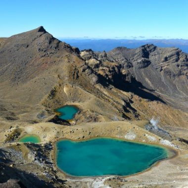In 10 stappen de Tongariro Crossing over!