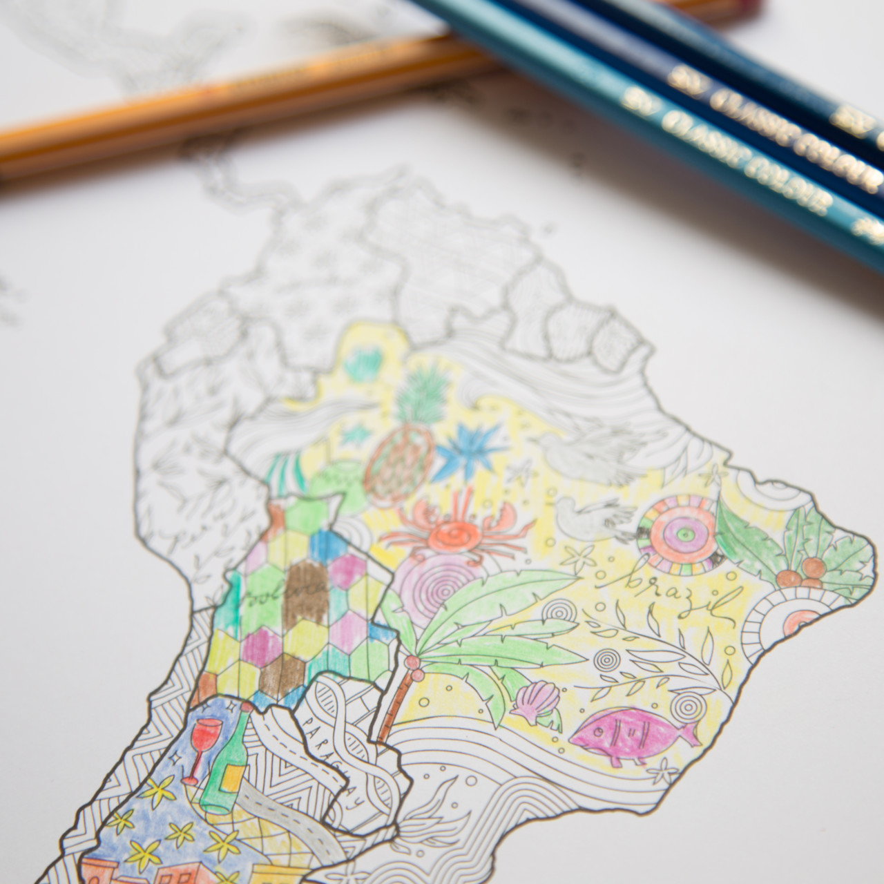 Coloring Map: Inkleur wereldkaart