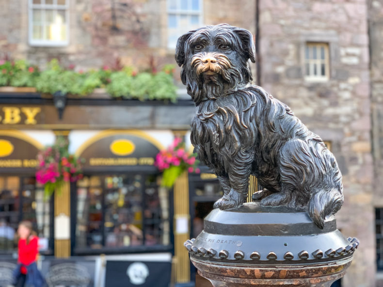 stedentrip Edinburgh bobby hondje